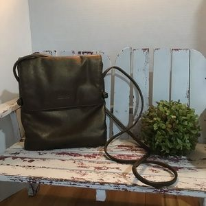 Kenneth Cole Reaction Bronze Leather Crossbody Bag